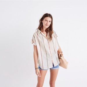 Madewell central shirt in Schulner stripe. M